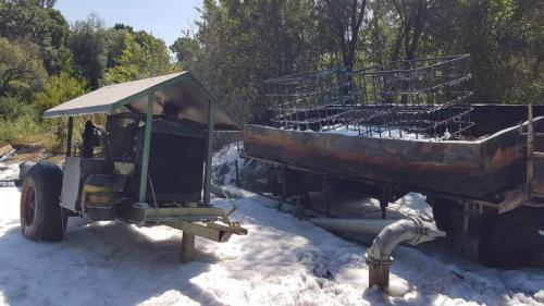 2021-06-22 Brand eines Diesel-Beregnungspumpenaggregat